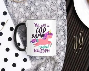 Unicorn Mug - Gift Mug For Best Friend - Anniversary Boyfriend Mug - Funny Coffee Mug- Unicorns Item- Long Distance Gift - Birthday Gift Mug