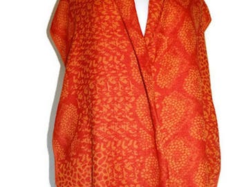 MothersDay Easter OnSaleScarfs/Orange Yellow Scarfs/Scarves/Spring Summer Wrap/Accessory/Oversized Wraps/TutuCape/Stole/Muffler/Cloak/Rebozo