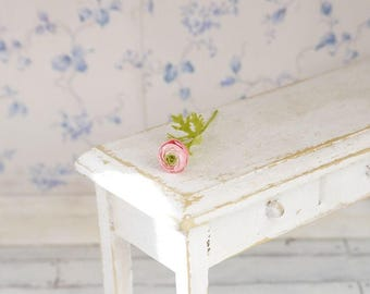 TO ORDER - Pink ranunculus 1/12 scale, dollhouse decor, dollhouse flowers, dollhouse miniatures