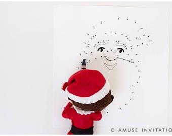 Christmas Connect the Dots, Elf Connect Dot, Christmas Elf Accessories, Santa's Elf Prop, Elf Printable, Christmas Elf Ideas, Easy Elf Ideas