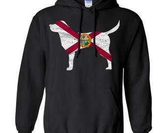 Labador Retriever Hoodie, Florida State Flag Hoodie, Labador Retriever Shirt, Labador Retriever Sweatshirt, Labador Retriever Hooded Shirt