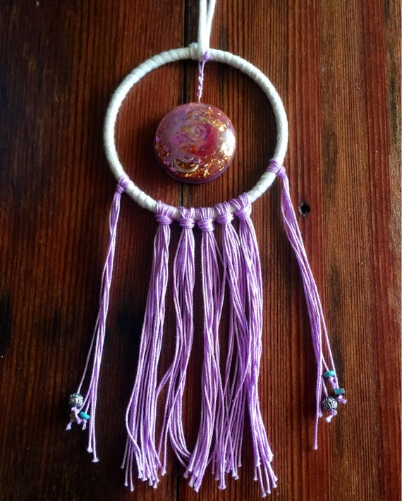 Negative Entity Protection Orgonite® Dream Catcher- Sacred Space Orgone Energy Generator- Astral Travel Dream Work- Light Worker Orgonite