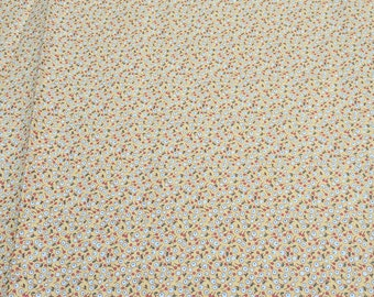 Aunt Grace-White Flowers on Yellow Cotton Fabric from Judie Rothermel for Marcus Fabrics