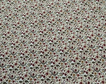Molly B's 1800's-Flowers on Tan Cotton Fabric from Marcus Fabrics