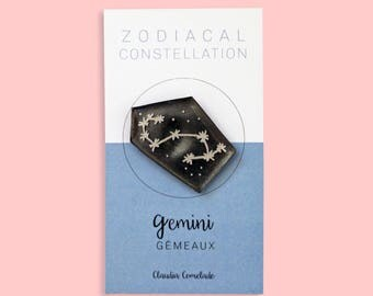 Zodiac - Gemini constellation brooch
