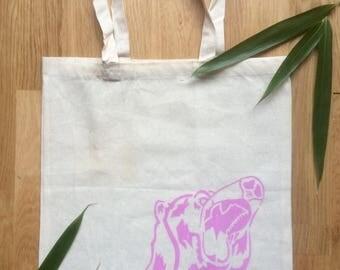 Bear Print Tote