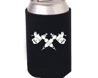 Tattoo Gun Cozie, Tattoo beer Cozie, Tattooed, Tattoo Beer Mug, I love Tattoos and Beer, Tattoos and Beer, Craft Beer, Tattooed, Tattoo Gun