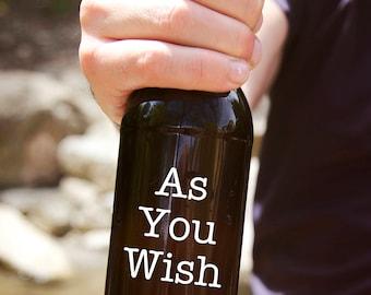 As You Wish Adhesive Decal DIY The Princess Bride Coffee Cup Mug Wine Glass Beer Tumbler Do It Yourself Glassware Drinkware Teacup Cordial