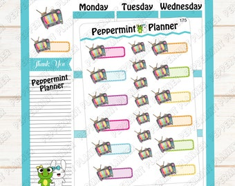 Track your TV program --- planner sticker --- 175