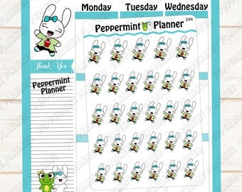 Jelly Bean Super Happy --- Hand Drawn --- Planner Stickers --- 244