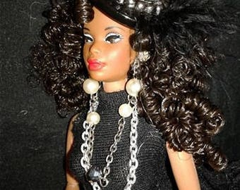 Chanel AA ooak barbie doll with curly hair