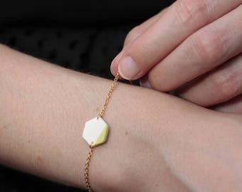 geometric Hexagon porcelain bracelet