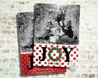 Joy Christmas Photo Card (24 HR or LESS TURNAROUND)