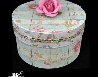 Vintage Pink Rose Deluxe Paper Mache Jewelry Box, Spring Rose Collection, Storage Box, Trinket Box, Garden, Mother's Day Gift, Wedding