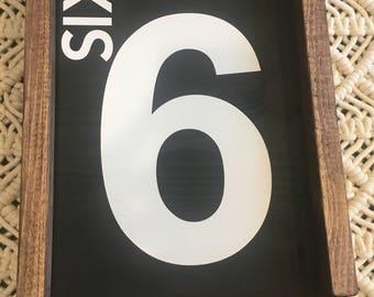 Number sign. Family number sign. Wood sign. Home decor. Farmhouse number sign. Framed wood sign.