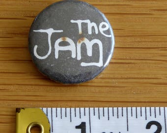 The Jam (logo) - PUNK ROCK Vintage 1970s Tin Badge/Button (Original)