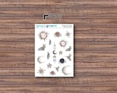 Among the Stars Deco Stickers | ECLP | Happy Planner | Recollections Planner
