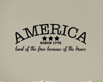 America Quotes | America Wall Decal | 2nd Amendment Decor | 2A Decal | Quote Decal | Quote Wall Decal | Wall Quotes | Decal Quotes