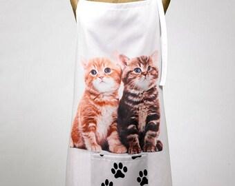 Adorable Kitten Print Apron