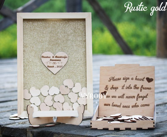 Rustic Wedding Guest Book Personalized Guestbook Wedding Sign