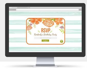 Custom E-Invite - Electronic RSVP - Email RSVP - Link Invite