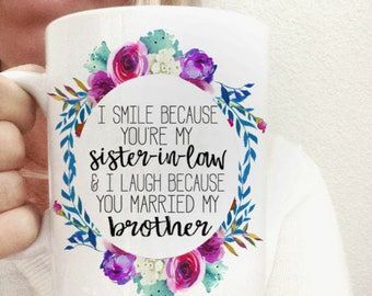Sister in Law Gifts | Sister in Law Birthday | Gift for Sister-in-Law | Sister in Law Mug | Sisterinlaw Gifts | Sister Bridesmaid