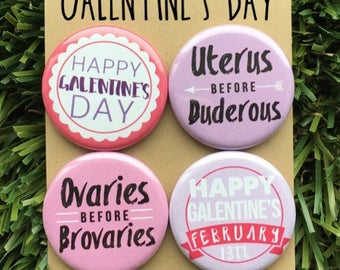 Galentines Day Pins - Valentines Gift, Leslie Knope, Parks and Rec, Gift for Her, Pinback Button or Magnet, Valentines Day, Friendship Pins