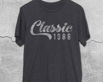 30th Birthday for Him & Her - Classic 1988 T-Shirt - 30th Birthday Shirt- Gift Ideas- Retro 1988 tshirt - 30th birthday gifts Graphic Tee