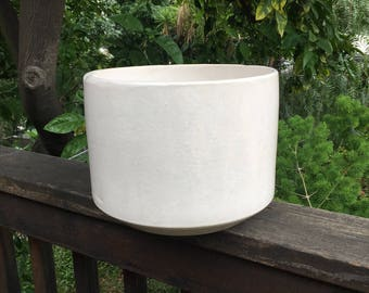 On HOLD for R Pittman - Gainey Style Midcentury Cylinder Planter in White