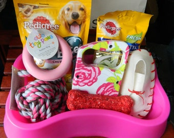 Dog  Gift Treats And Bowl