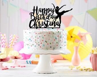Ballerina Cake Topper, dancer cake topper, Birthday cake Topper age, Customizable birthday cake topper, ballerina party, custom cake topper