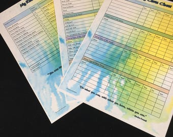 Digital Chore Chart // Kid's Chore Chart // Chore Chart for Children // Printable Chore Chart // Responsibility Chart // Reward Log