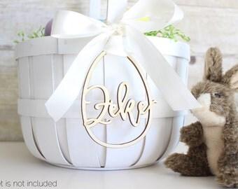 Personalized Easter Basket Egg Tag | Easter Basket Name Charm