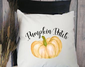 Pumpkin Patch Pillow Cover, Front Porch Pillow, Watercolor Pumpkin Pillows, Fall Pillow Covers, Farmhouse Pillows, Fall Decorative Pillows
