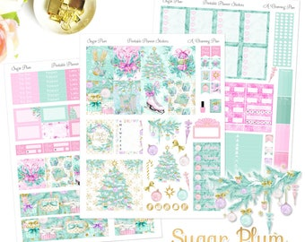 Sugar Plum - Printable Planner Stickers - Instant Download -