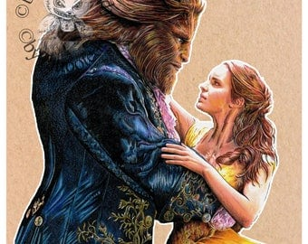Beauty and the Beast - Fine Art Print - A4/A3