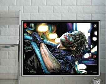 """Joker """"The Dark Night  - Fine Art Print - Din A3 / A4"""
