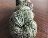 Indie Dyed, Hand Dyed Sock Yarn, Fingering Weigh, Outlander Inspired - Lallybroch on Tweed Sock