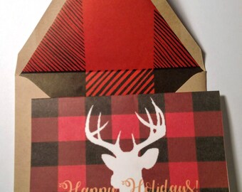 Buck Christmas greeting card