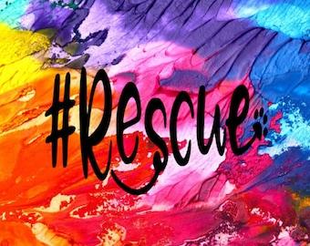 Rescue Decal / Rescue Car Decal / Car Decal