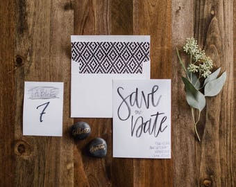 Save The Date | Custom | Handmade | Black & White