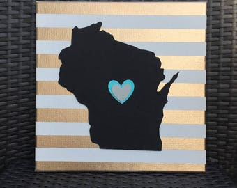 Wisconsin Sign | Canvas Sign