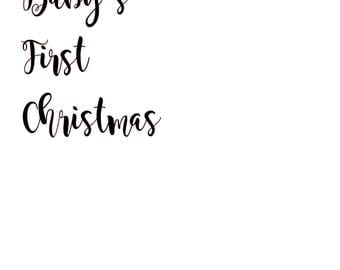 Baby's First Christmas SVG
