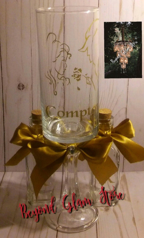 Inspired Beauty Belle And The Beast 3 Piece Personalized Sand