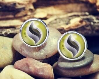 Kangaskhanite Mega Evolution Stone Pokemon earrings, Pokemon Evolution studs, jewelry, Anime earrings