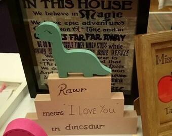 Dinosaur Stacking Blocks