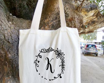 Personalized Tote Bag, Custom Tote Bag, Baby Deer Tote, Canvas Cotton Tote Baby Deer Bag, Tote Bag, Bridesmaid Gift, Personalized Bag, Bags