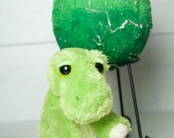 Medium Dinosaur Egg - Green T-Rex