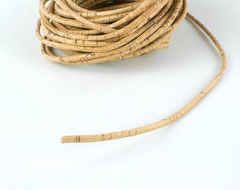 Silver cork rope 3 mm 40 inches