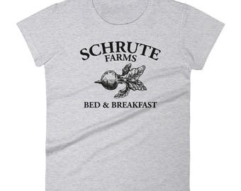 Schrute Farms - Women's short sleeve t-shirt - Bed and Breakfast, The Office, Bears Beets Battlestar Galactica, Dwight Schrute